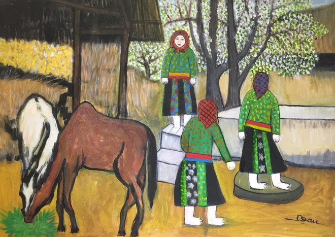 Cô giáo dạy Văn 76 tuổi ra mắt triển lãm mỹ thuật gây bất ngờ cho giới họa sĩ ảnh 8
