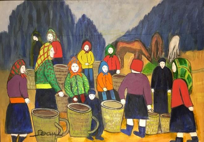 Cô giáo dạy Văn 76 tuổi ra mắt triển lãm mỹ thuật gây bất ngờ cho giới họa sĩ ảnh 3