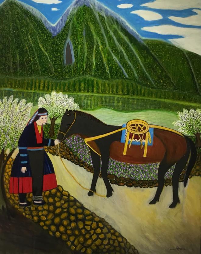 Cô giáo dạy Văn 76 tuổi ra mắt triển lãm mỹ thuật gây bất ngờ cho giới họa sĩ ảnh 5