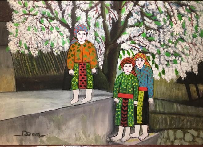 Cô giáo dạy Văn 76 tuổi ra mắt triển lãm mỹ thuật gây bất ngờ cho giới họa sĩ ảnh 1