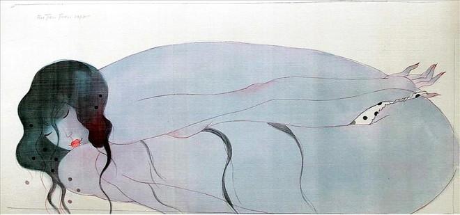 58 bức tranh lụa khỏa thân của Bùi Tiến Tuấn cuốn hút người xem ảnh 1