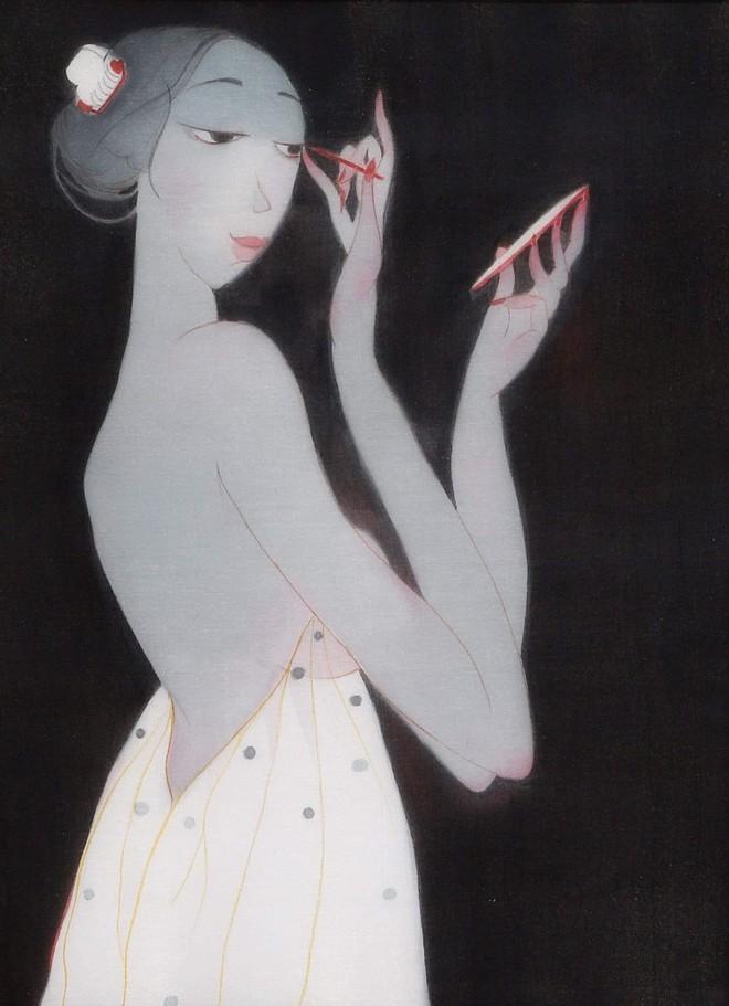 58 bức tranh lụa khỏa thân của Bùi Tiến Tuấn cuốn hút người xem ảnh 4