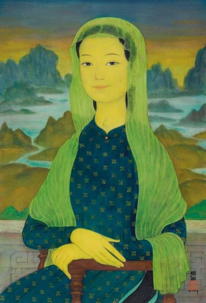 """""""Thiếu nữ choàng khăn"""" của Lê Phổ đạt mức triệu đô, """"Mona Lisa"""" của Mai Trung Thứ dừng ở mức vừa phải ảnh 2"""