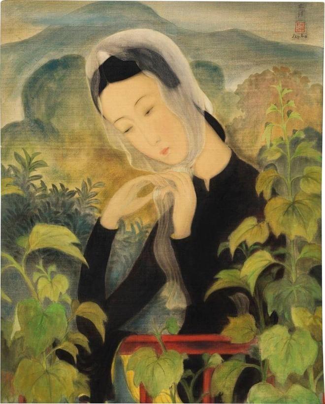"""""""Thiếu nữ choàng khăn"""" của Lê Phổ đạt mức triệu đô, """"Mona Lisa"""" của Mai Trung Thứ dừng ở mức vừa phải ảnh 1"""
