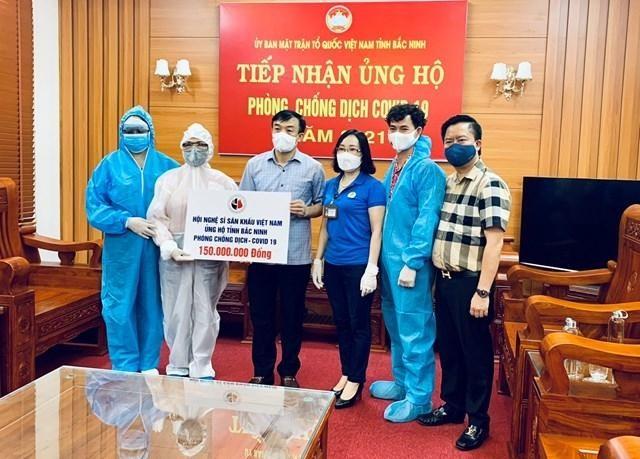 """NSND Thuý Mùi kêu gọi giới nghệ sỹ sân khấu đóng góp ủng hộ """"tâm dịch"""" Kinh Bắc ảnh 3"""