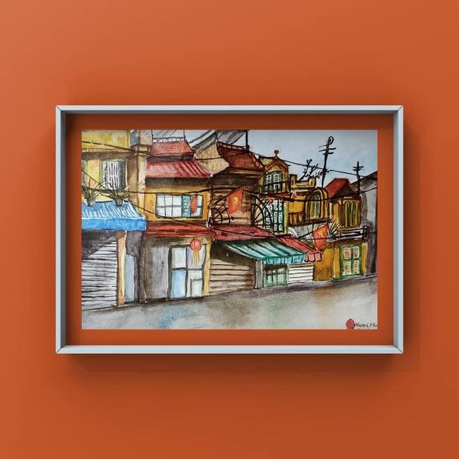 """Triển lãm tranh thiếu nhi online """"Bé vẽ Hà Nội"""" của nhóm Ký họa đô thị Hà Nội ảnh 3"""