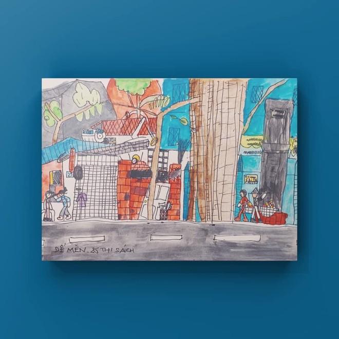 """Triển lãm tranh thiếu nhi online """"Bé vẽ Hà Nội"""" của nhóm Ký họa đô thị Hà Nội ảnh 2"""