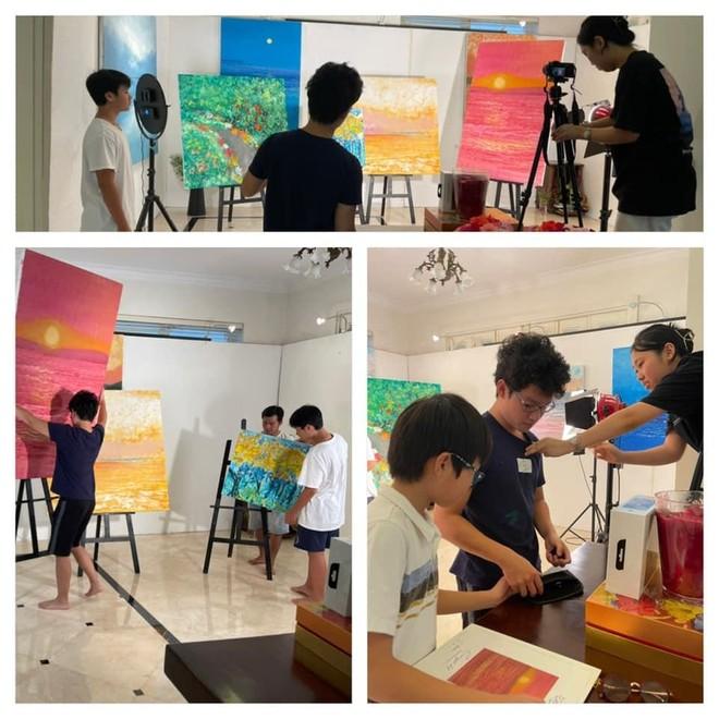 14 tuổi, họa sĩ Xèo Chu quyên góp được 2,9 tỷ đồng ủng hộ chống dịch ảnh 2