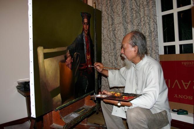 Vĩnh biệt họa sĩ tranh cực thực hàng đầu Việt Nam Đỗ Quang Em ảnh 1