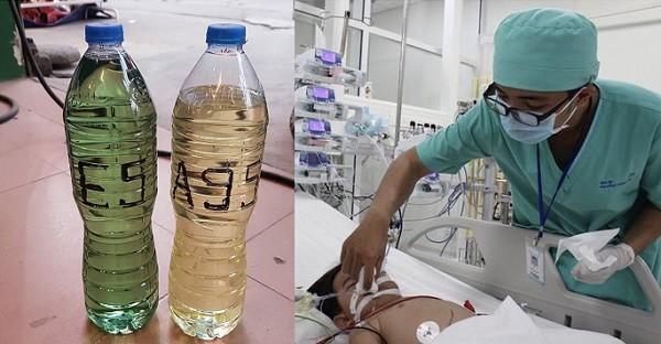 Bé gái 1 tuổi tử vong nghi do uống nhầm chai xăng trong sân nhà ảnh 1