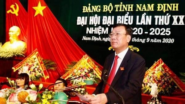 Ông Đoàn Hồng Phong tiếp tục được bầu làm Bí thư Tỉnh ủy Nam Định ảnh 1