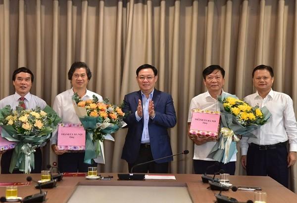 Hà Nội: Trao quyết định nghỉ hưu cho 3 Thành ủy viên ảnh 1