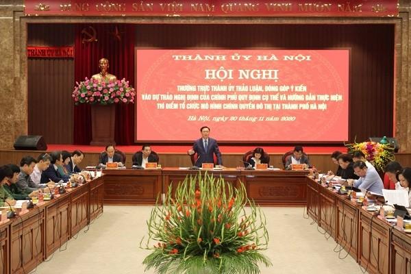 Hà Nội: Cân nhắc số lượng biên chế tối đa của UBND phường khi thí điểm chính quyền đô thị ảnh 1