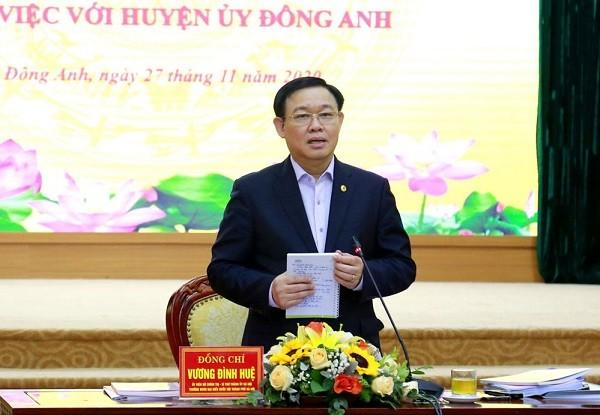 """Bí thư Thành ủy Hà Nội: Với hơn 80 dự án đang triển khai, Đông Anh hoàn toàn có thể """"cất cánh"""" ảnh 1"""