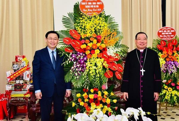 Bí thư Thành ủy Hà Nội: Bà con giáo dân đã đóng góp tích cực vào kết quả chung của Thủ đô ảnh 1