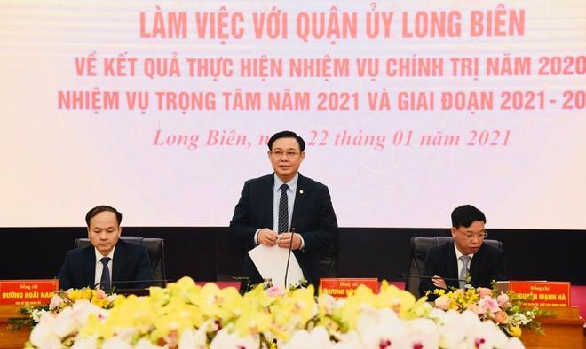 Bí thư Thành ủy Hà Nội: Nếu quận nào cũng phát triển được như Long Biên thì rất yên tâm ảnh 2