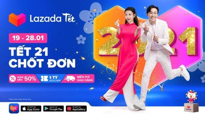 """Lazada Việt Nam khởi động năm 2021 với lễ hội mua sắm """"khủng"""" trước Tết ảnh 1"""