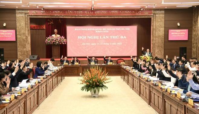 10 chương trình công tác toàn khóa XVII của Thành ủy Hà Nội ảnh 1