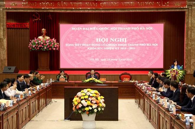Bí thư Thành ủy Vương Đình Huệ: Đoàn ĐBQH TP Hà Nội là điểm sáng của Quốc hội khóa XIV ảnh 1