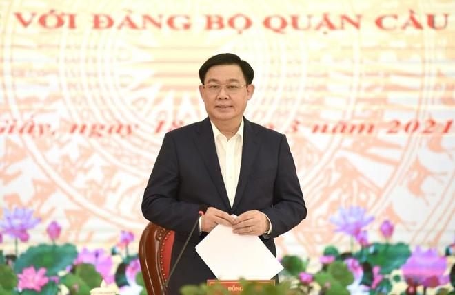 Bí thư Thành ủy Hà Nội: Quận Cầu Giấy sẽ đứng ở top đầu thành phố ảnh 3