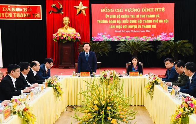 Bí thư Thành ủy Hà Nội: Huyện Thanh Trì muốn lên quận thì tầm nhìn phải khác ảnh 1