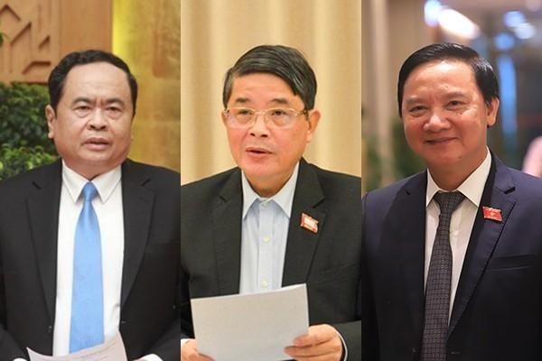 Các ông Trần Thanh Mẫn, Nguyễn Khắc Định và Nguyễn Đức Hải được giới thiệu để bầu Phó Chủ tịch Quốc hội ảnh 1