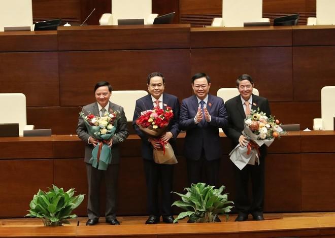 Các ông Trần Thanh Mẫn, Nguyễn Khắc Định và Nguyễn Đức Hải được bầu làm Phó Chủ tịch Quốc hội ảnh 1