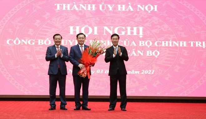 Tân Bí thư Thành ủy Hà Nội Đinh Tiến Dũng: Xin hứa sẽ nỗ lực hết mình, nêu cao tiên phong, gương mẫu ảnh 2