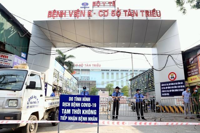 Bệnh viện K xác nhận : 10 ca Covid-19 gồm bệnh nhân và người nhà; 4 y bác sĩ là F1, F2 ảnh 1