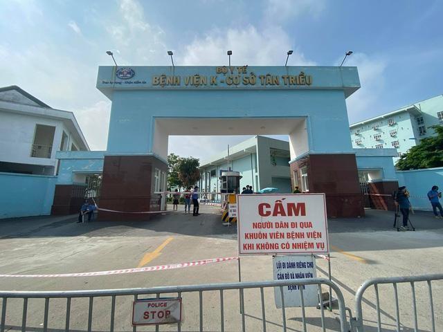 Bệnh viện K có ít nhất 10 ca dương tính với SARS-CoV-2 ở cơ sở Tân Triều ảnh 1
