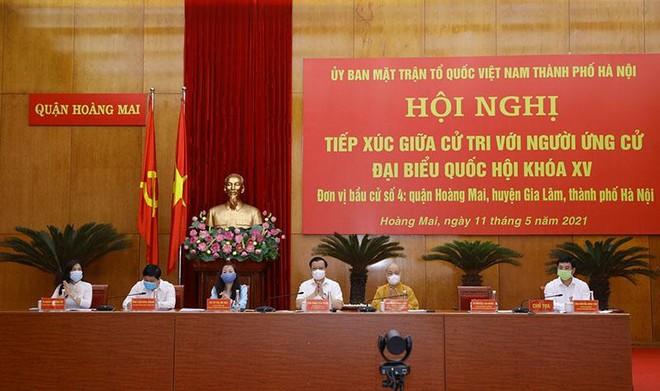 Bí thư Thành ủy Hà Nội Đinh Tiến Dũng nêu 8 cam kết nếu trúng cử đại biểu Quốc hội khóa XV ảnh 1