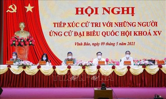 Chủ tịch Quốc hội Vương Đình Huệ: Hứa sẽ sát cánh, đồng hành với cử tri và nhân dân ảnh 1