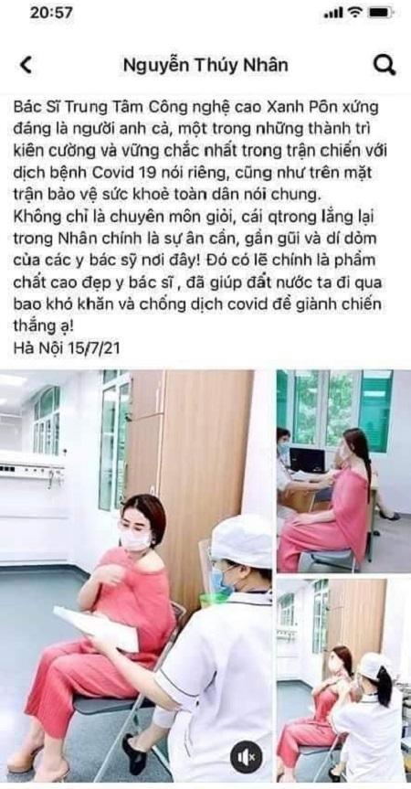 """Vụ cô gái khoe được Phó Giám đốc BV Xanh Pôn """"giúp"""" được tiêm vaccine: Người trong cuộc nói gì? ảnh 1"""