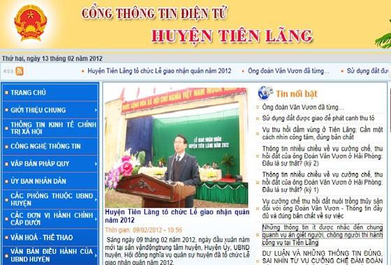 Huyện Tiên Lãng gỡ bỏ thông tin trái quyết định của Thủ tướng ảnh 1