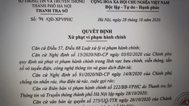 Hà Nội: Xử phạt dịch vụ bảo hiểm, bất động sản phát tán cuộc gọi rác ảnh 1