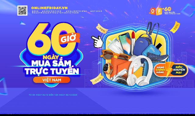 """Tối nay (3-12), bắt đầu chương trình """"60 giờ mua sắm trực tuyến Việt Nam"""" ảnh 1"""