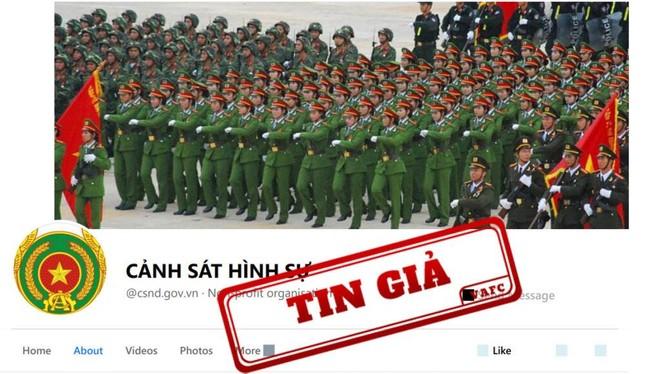 Phát hiện trang fanpage giả mạo kênh thông tin của Bộ Công an ảnh 1