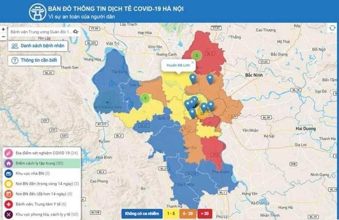 Hà Nội: Tra cứu thông tin dịch tễ Covid-19 qua bản đồ ảnh 1