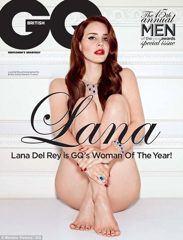Lana Del Rey thoải mái khi chụp ảnh khỏa thân ảnh 3
