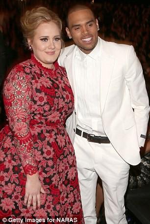 """Adele phủ nhận việc """"to tiếng"""" với Chris Brown ảnh 3"""