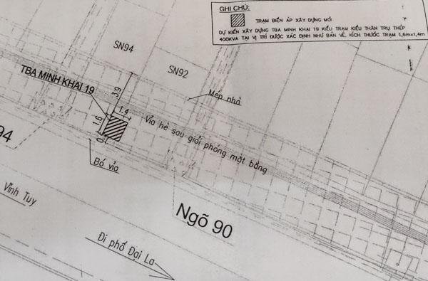 Khẩn trương hỗ trợ thi công dứt điểm trạm biến áp trên phố Minh Khai ảnh 1