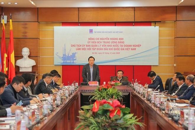 Chủ tịch UBQLVNN Nguyễn Hoàng Anh: Tiếp tục đồng hành cùng Petrovietnam tập trung, quyết liệt xử lý những vướng mắc ảnh 1