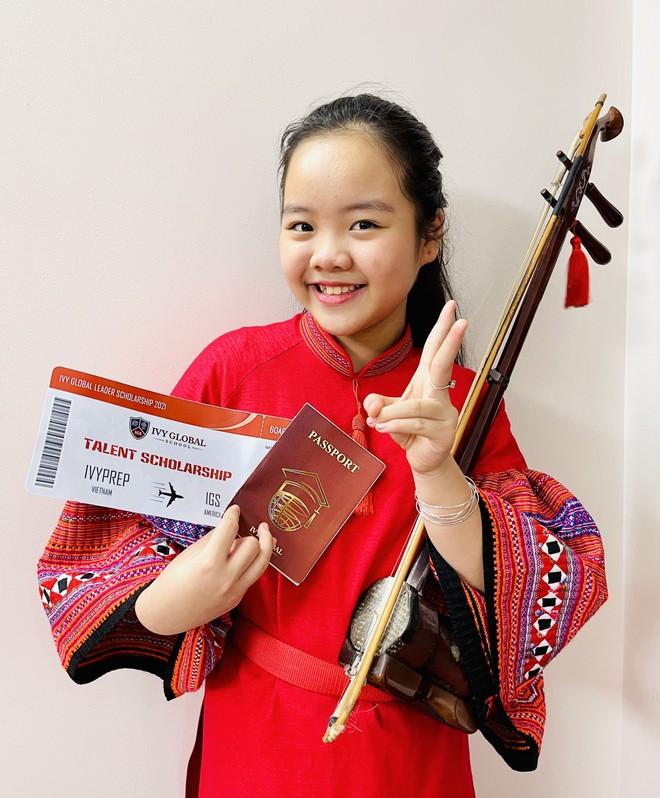 Học sinh tiểu học Hà Nội nhận học bổng Mỹ nhờ say mê đàn nhị ảnh 1