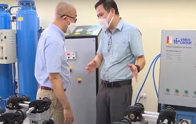 ĐH Bách khoa Hà Nội kịp thời đưa máy oxy dòng cao tách chiết từ không khí vào điều trị Covid-19 ảnh 2