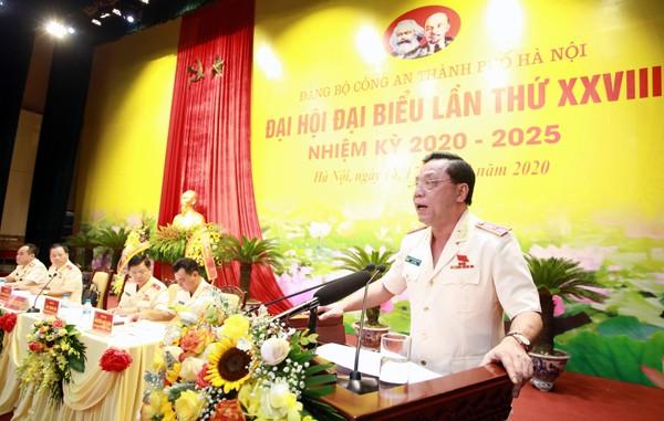 Đại tướng Tô Lâm và Bí thư Thành ủy Vương Đình Huệ dự Đại hội đại biểu Đảng bộ Công an thành phố Hà Nội ảnh 2