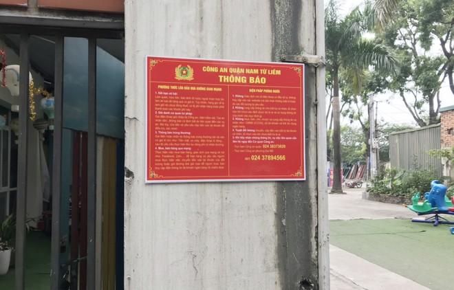 Những chiếc biển báo phòng ngừa tội phạm lừa đảo qua 'mạng' ở khu dân cư ảnh 4