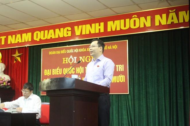 Ông Đỗ Đức Hồng Hà, Ủy viên Thường trực Ủy ban Tư pháp của Quốc hội thông báo kết quả kỳ họp
