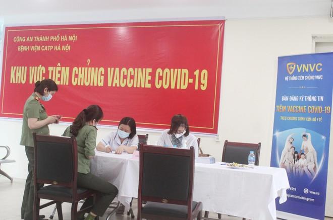 Ngày đầu tiên triển khai tiêm 1.800 liều vaccine Covid-19 cho cán bộ chiến sỹ Công an Thủ đô ảnh 1