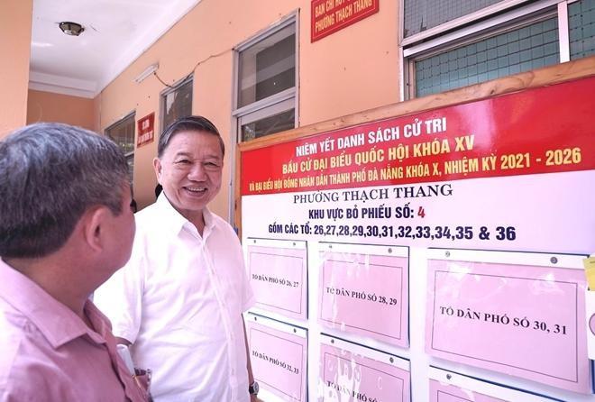 Bộ trưởng Tô Lâm kiểm tra công tác chuẩn bị bầu cử tại Đà Nẵng ảnh 2
