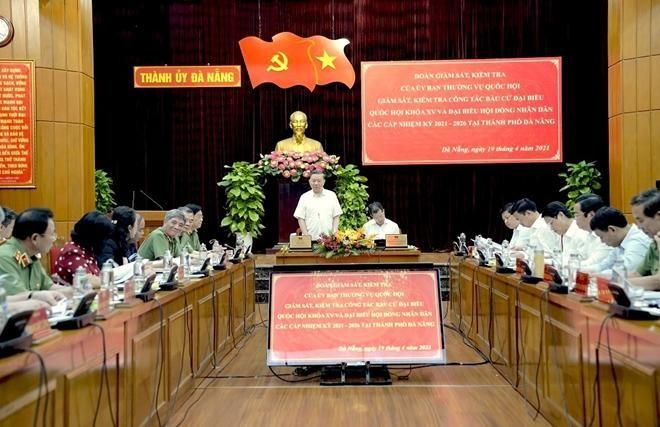 Bộ trưởng Tô Lâm kiểm tra công tác chuẩn bị bầu cử tại Đà Nẵng ảnh 1